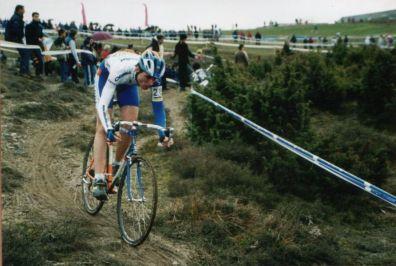 En el Campeonato de España de ciclocross de Durana, en 2000. Acabé 6º.